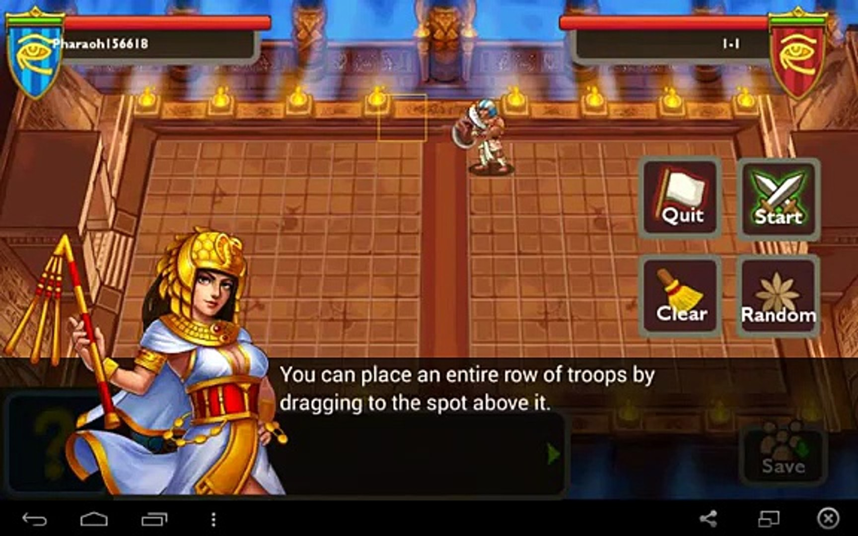 Pharaohs War for Android GamePlay