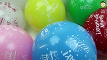 Birthday Balloons Popping For Kids Bunch o Balloons Popping Show Learn Colors Balloons Baby Song Fun
