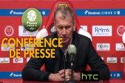 Conférence de presse Stade de Reims - Stade Brestois 29 (1-1) : Michel DER ZAKARIAN (REIMS) - Jean-Marc FURLAN (BREST) - 2016/2017