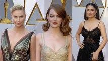 Emma Stone, Halle Berry, Salma Hayek, Priyanka Chopra, Emma Roberts 2017 Oscars Red Carpet