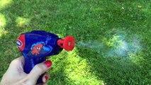 SPIDERMAN Bubble Gun Spider-Man Bubble Machine Bubbles Generator Bubble Playtime for Kids Toy Videos