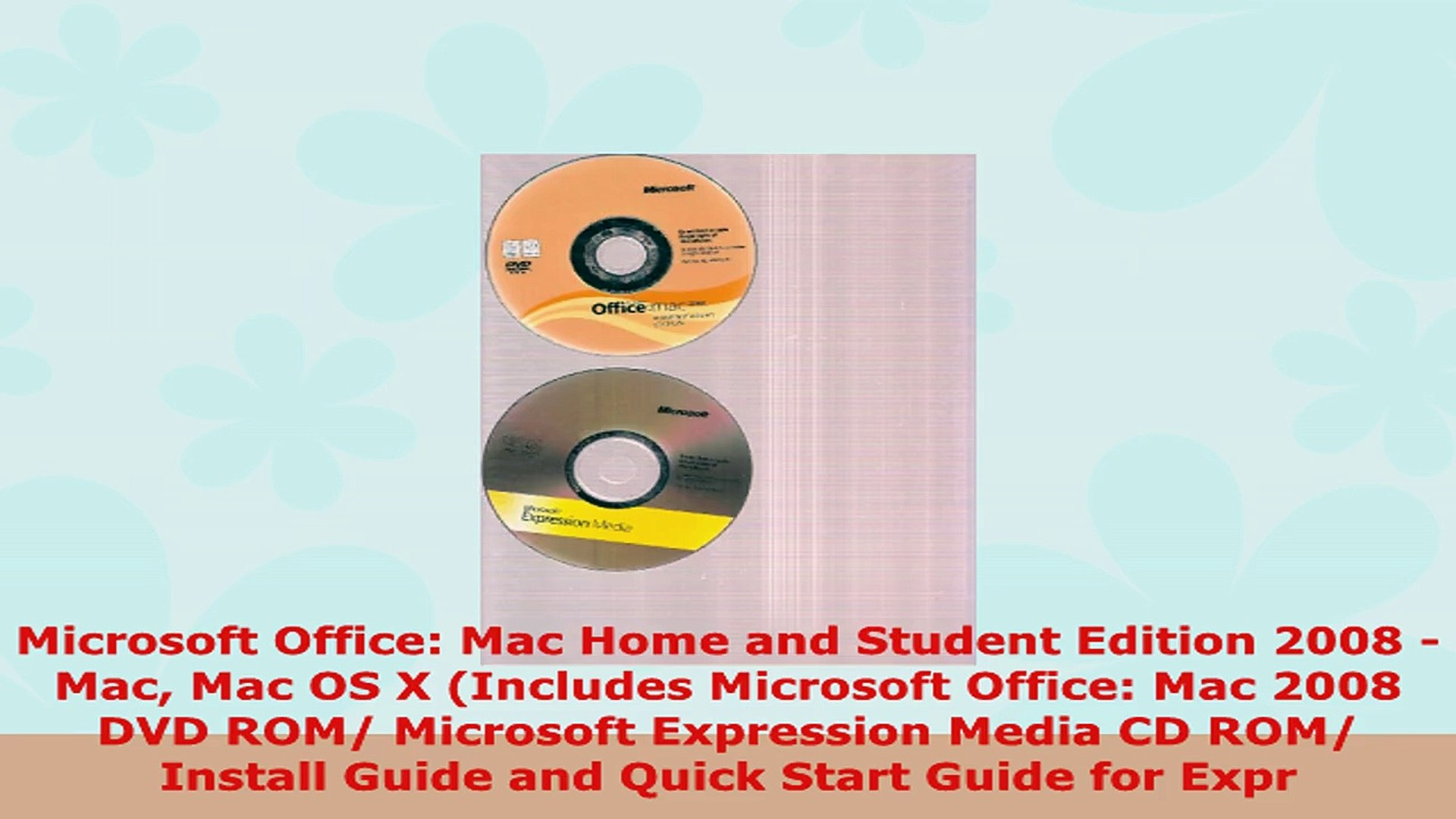 READ ONLINE  Microsoft Office Mac Home and Student Edition 2008  Mac Mac OS X Includes Microsoft
