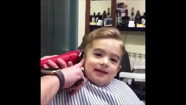 Loạt biểu cảm của cậu bé đẹp trai khi cắt tóc khiến dân mạng điên đảo