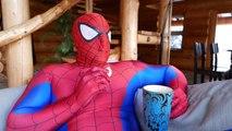 Fat Spiderman and Spidergirl vs Venom In Real Life - Snowball Fight! | Superhero Movie