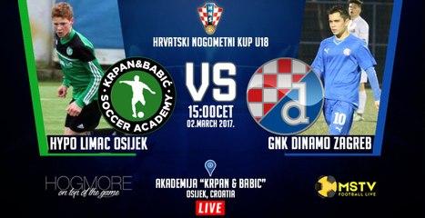 NK HYPO LIMAC vs. GNK DINAMO ZAGREB | Croatian football cup U18 1/8finals