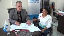 Izmir Engelli Milli Tenisçi Büşra Ün Ün Görüntüsü