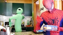 Spiderman vs Alien Invasion ! Funny Green Aliens in Real Life ! Superhero Fun Movie Parody