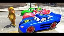 SPIDERMAN & TALKING TOM COLORS Nursery Rhymes Disney Pixar Cars Lightning McQueen Animated Songs