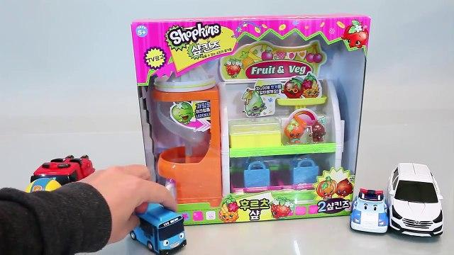 Shopkins Fruit Veg Market Shop Playset Toys 샾킨즈 후르츠샾 마트놀이 뽀로로 타요 폴리 장난감 YouTube