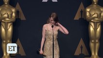 Emma Stone Reacts to Best Picture Mistake Between 'La La Land' & 'Moonlight' Backstage at the Oscars - Dailymotion