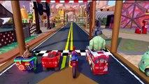Disney Cars, Hulk, Spiderman, Groot Super Ride | Wheels On The Bus | Finger Family Kids Songs