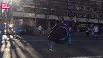 Les fans de l'OM mettent une énorme ambiance dans les rues de Marseille