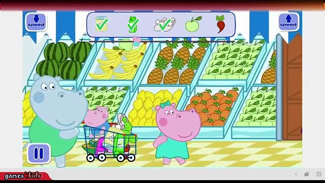 Hippo Peppa Kids Supermarket - peppa pig supermarket - baby in supermarket - app for kids