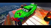 Spiderman and Green Hulk McQueen Cars & Nursery Rhymes for Children Disney Pixar Cars