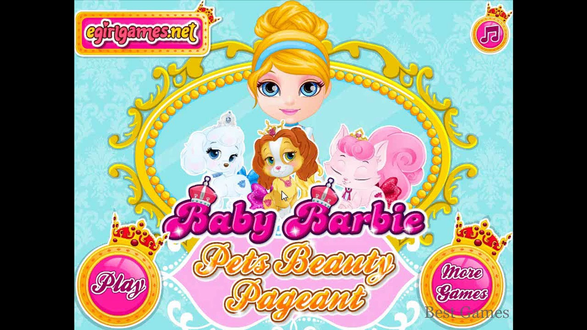 Baby Barbie Pets Beauty Pageant - Frozen Game Movie - Top Baby Games For kids new