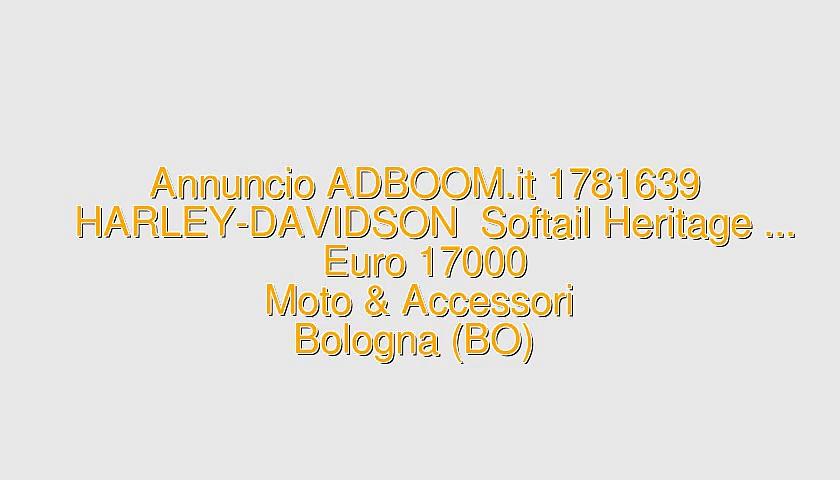 HARLEY-DAVIDSON  Softail Heritage …