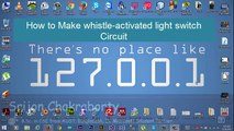 How to Make whistle-activated light switch with Arduino    DIY Sound Activated Switch