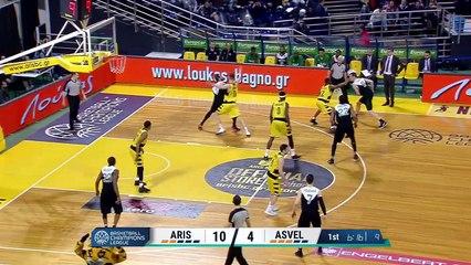 Aris Salonique BC / ASVEL : les highlights !