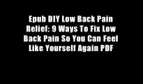 Epub DIY Low Back Pain Relief: 9 Ways To Fix Low Back Pain So You Can Feel Like Yourself Again PDF