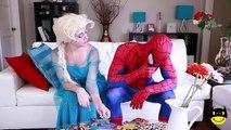 Человек-паук против Джокера против замороженные elsa безумные пиратские Приключения! ж/ розовый Человек-паук Тройни, в