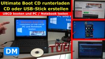 Ultimate Boot CD runterladen auf USB-Stick oder CD - PC oder Laptop testen - UBCD