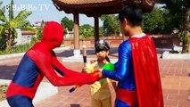 Joker is Fake Santa Arrest Police Baby W/ Spiderman Recuse Police baby/ Funny videos for K