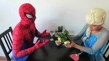 Frozen Elsa SHOWER SPIDER PRANK w Bad Baby Spiderman Hulk SpiderBaby Movie Toys in Real Li