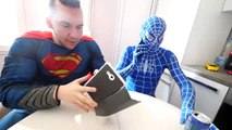 Hulk BREAKS Spiderman's Superman's PHONE! w_ Frozen Elsa Joker Gumball Machine Fun in Real Life-H