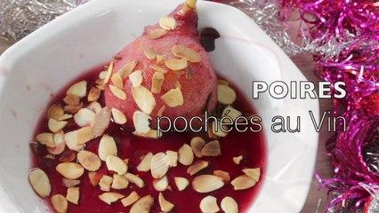 Recette Poire pochée au Vin rouge