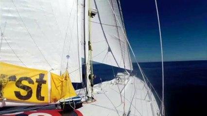 J115 : Sébastien Destremau dans des conditions idéales de pêche / Vendée Globe