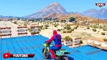SPIDERMAN BIKER! MOTO BIKE & Real CARS cartoon! Nursery Rhymes songs for kids! Color kids video FUN