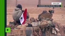 Chars et tirs d'obus : les forces armées syriennes sont tout près de Palmyre