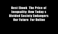 Best Ebook  The Price of Inequality: How Today s Divided Society Endangers Our Future  For Online