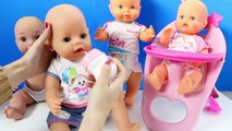 Baby Poop ★ Baby Born Baby Doll Toys Baby WC, Crib, High Chair & Play-Doh Food For Toy Babies