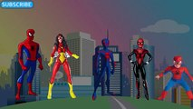 Dedo De La Familia De Spiderman | Hombre Araña Dedo Canciones Familia | Niños Canciones Populares Vivero De Rh