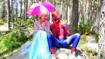 Frozen Wants Peppa Pig Toys! w/ Spiderman Rainbow Bubble Gum Candy, Superman & Hulk vs Sha