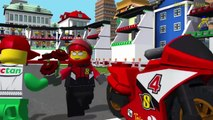 Cartoon about Game LEGO Police. Police Car. Fire Truck. Cartoon about LEGO LEGO Game My City