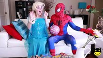 Spiderman EMBARAZADA o GORDA ?? w/ Frozen Elsa Broma vs Joker Real Hulk! Superhéroe de la Diversión en rea