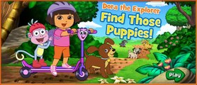 DORA THE EXPLORER - Dora Find Those Puppies | Dora Online Game HD (Game for Children)