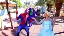 Человек-паук против Джокера против замороженные elsa Дисней Эльза похитил реальной жизни супергероев SPMFC