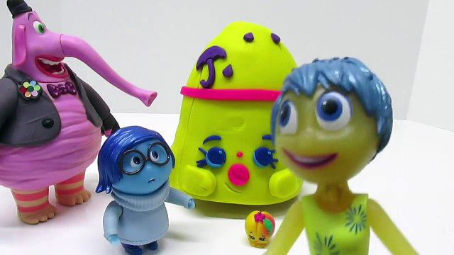 INSIDE OUT Plus SHOPKINS!! Play-Doh Surprise Egg!! Inside Out! SADNESS Goes Shopping with SHOPKINS