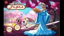 Disney Congelado Princesa Elsa Tiempo de Viaje a Japón Bebé Video Juego Para Niños HD 1080P