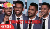 Funniest M.S Dhoni You Have Ever Seen ● Captain Cool M.S Dhoni Funny Moments ● Must Watch