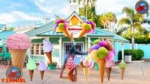 BIG ANGRY BABY Eats Ice Cream at BASKIN ROBBINS Drive-Thru! w/ Spiderman & Rapunzel in Rea
