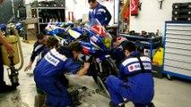 Entrainement pit-stop pour le Junior Team Suzuki Le Mans Sud avant les 24 Heures Motos 2017