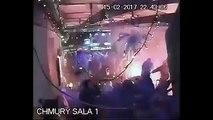 C3 Legia Warsaw - Ajax Amsterdam Legia hooligans attack pub of Ajax fans