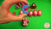 Kinder Surprise Egg Learn-A-Word! Spelling Play-Doh Shapes! Lesson 12(Teaching Letters Ope