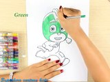 How to draw PJ Masks Characters: Owlette, Catboy, Gekko - Best Coloring for Kids