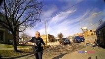 Une arrestation intense filmée par un policier