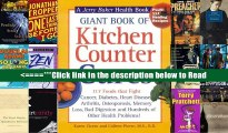 Giant Book of Kitchen Counter Cures: 117 Foods That Fight Cancer, Diabetes, Heart Disease,
